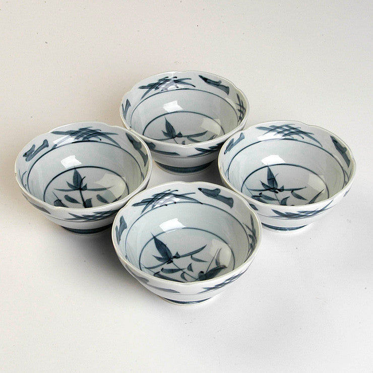 Hand-Painted Bowls 4.75\ 4Pc""