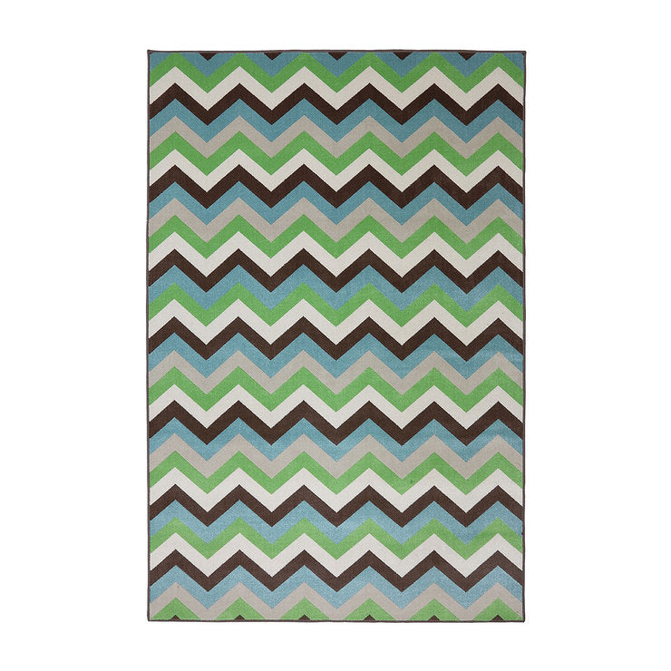 Chevron 5'3x7'10 Green