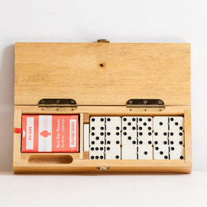 Domino Set And Wood Case