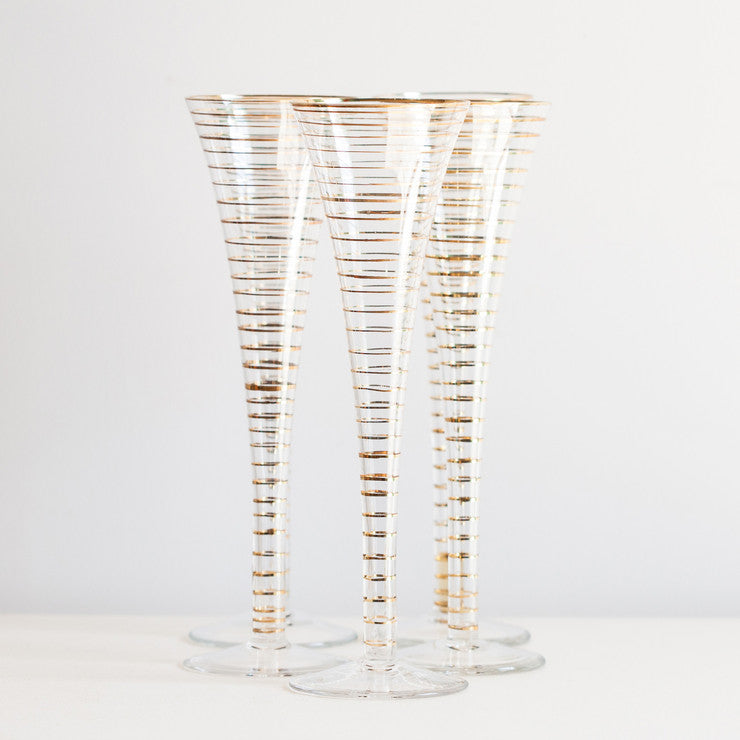 Champagne Glasses Set Of 5