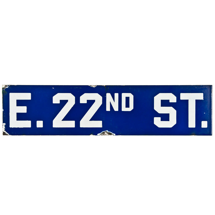 East 22nd Street Sign