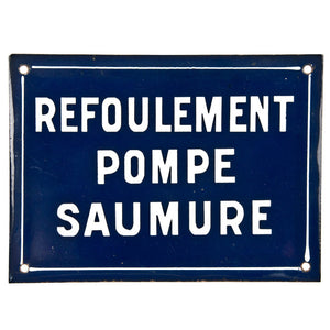 French Porcelain Enamel Sign