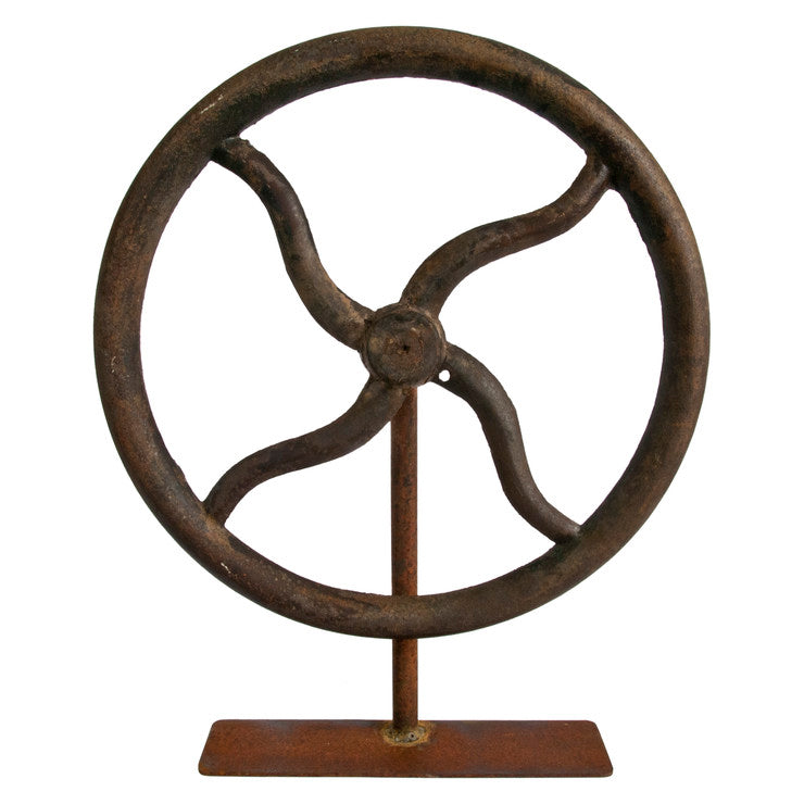 Industrial Wheel On Stand