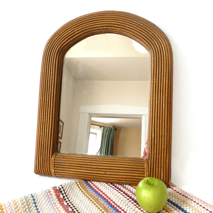 Faux Wicker Mirror