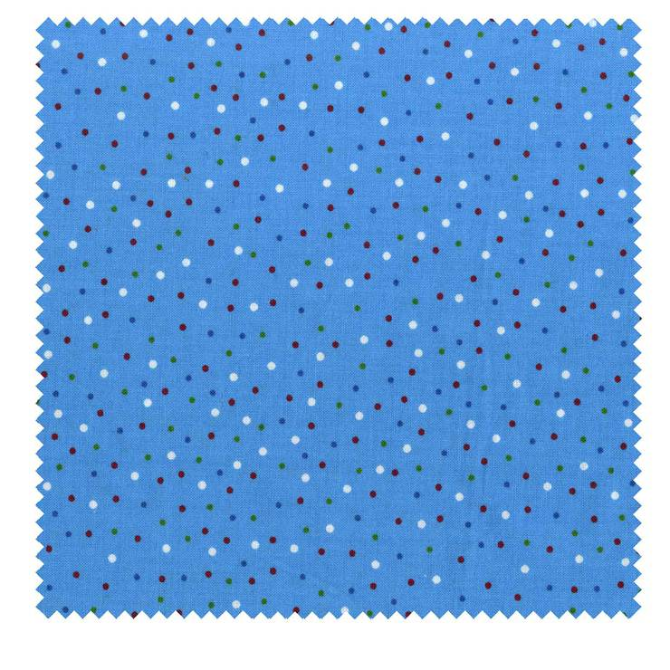 Dots 3 Yard Cut Blue