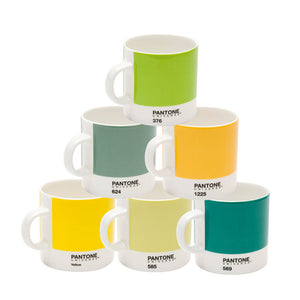Pantone Espresso Set Of 6 Greens