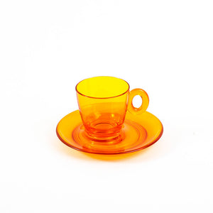 Espresso Cup Amber Set Of 2