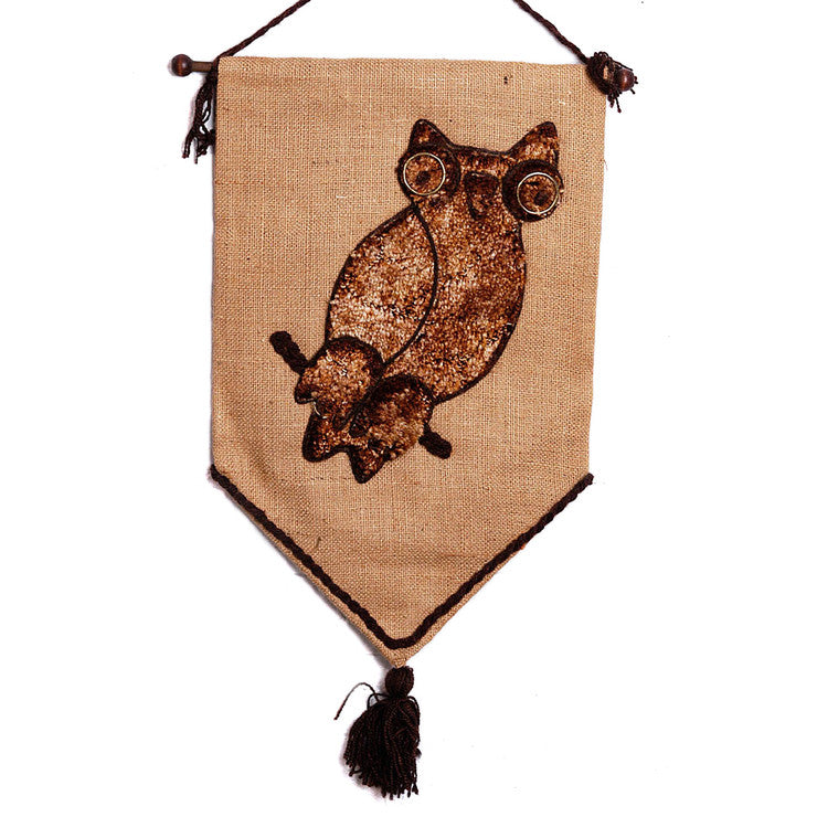 '70s Dark Owl Wall Hanging