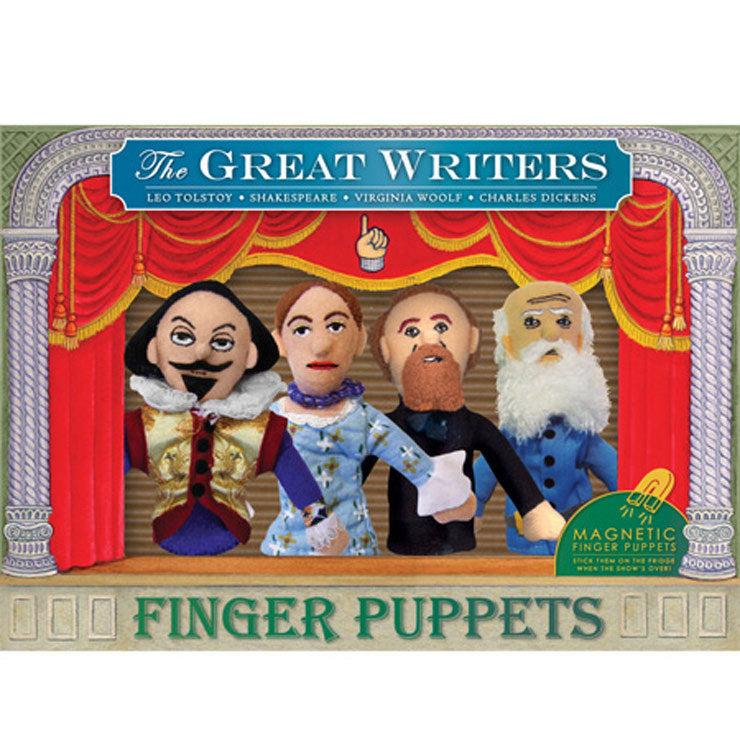 Famous Writers Finger Puppet Set