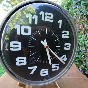 Aluminum Industrial Clock