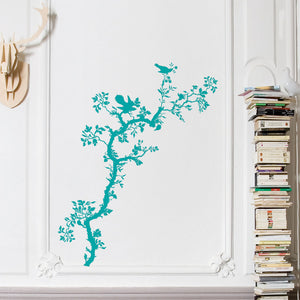 Bird Branch Decal Teal