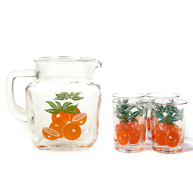 5 Piece Orange Juice Set
