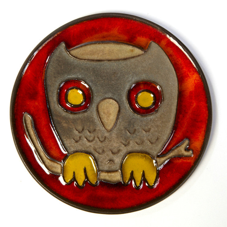 German Owl Plaque