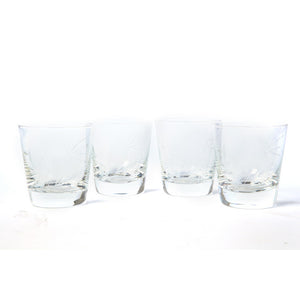 Palm Tree Style Glasses Set Of 4