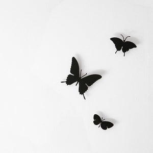 Butterfly Set Of 3 Black