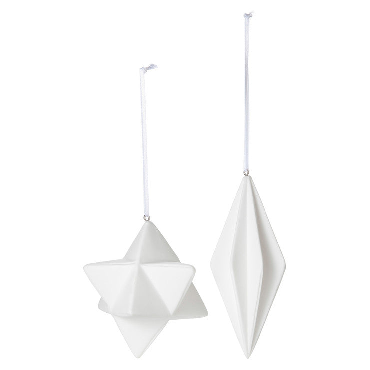 Origami Star Ornaments Set Of 2