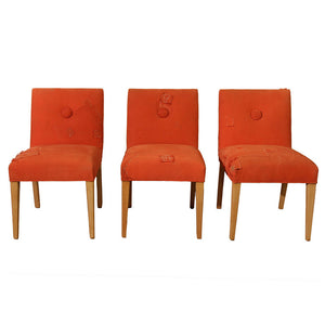 Cushion Chair Set Orange