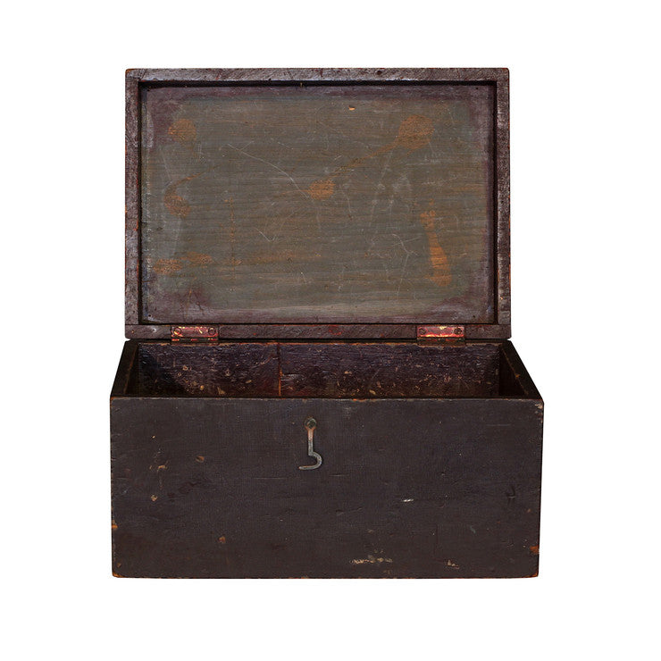 Crackled Storage Box Purple