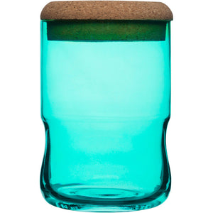 Aqua Jar With Lid Small Green