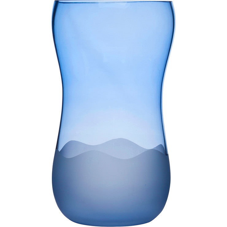 Aqua Wave Vase Large Blue