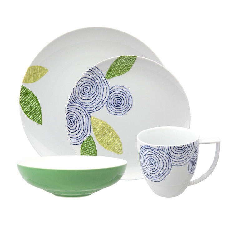 Artist Floral Place Setting 4Pc
