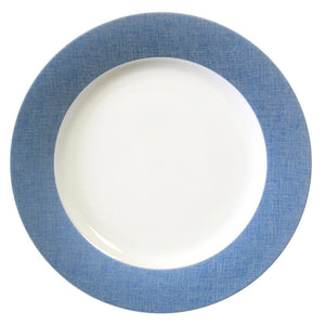 Fanciful Blue Round Platter