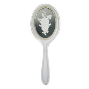 '50s Hand Mirror With Flowers