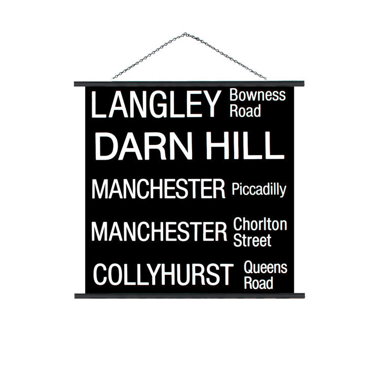 Langley Collyhurst Trolley Sign