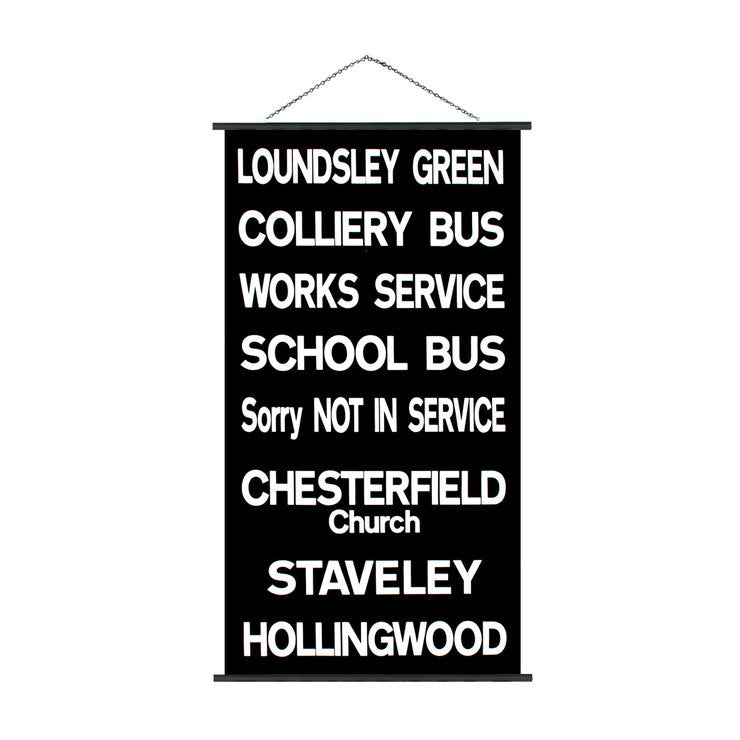 Loundsley Green Trolley Sign