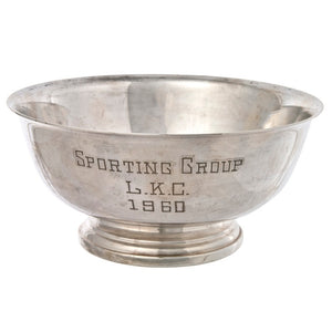 1960 Dog Show Trophy Bowl
