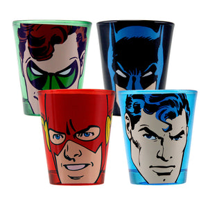 DC Heroes Shot Glass 4 Pack