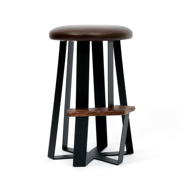ARS Counter Stool Brown Leather