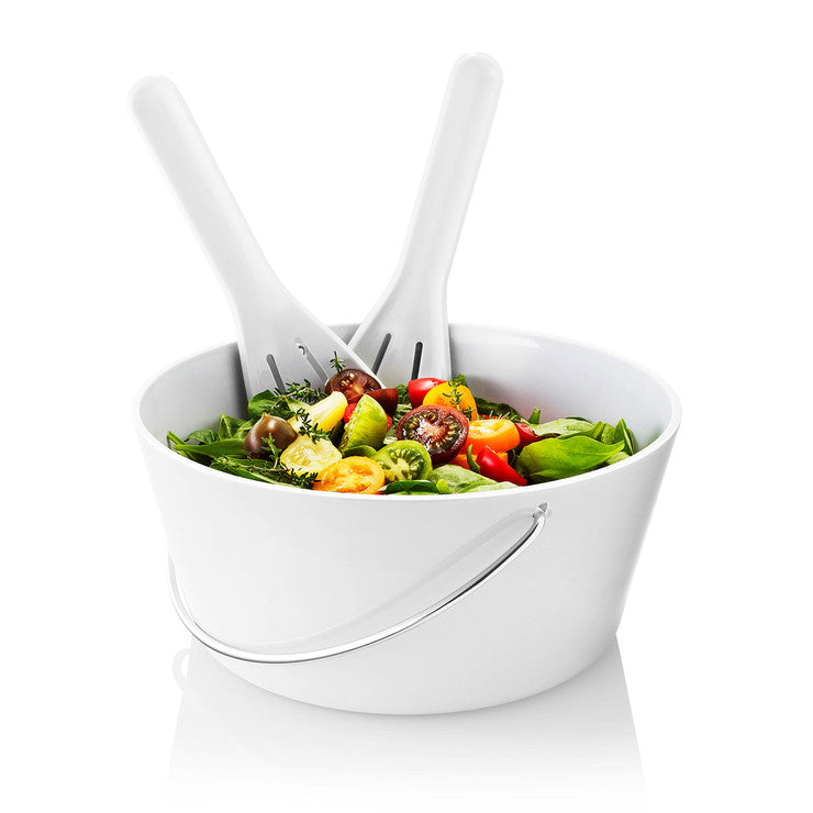 Bowl With Salad Servers