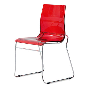 Gel T Chair Transparent Red