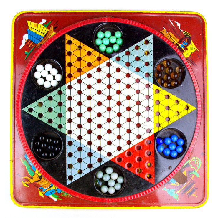 '40s Tin Chinese Checkers Game