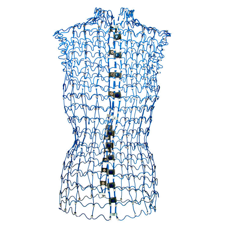 Blue Wire Dress Form
