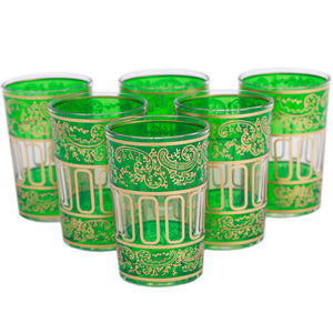 Lalla Glass Green Set Of 6