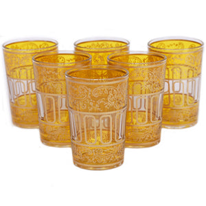 Lalla Glass Yellow Set Of 6
