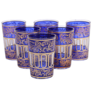 Lalla Glass Blue Set Of 6