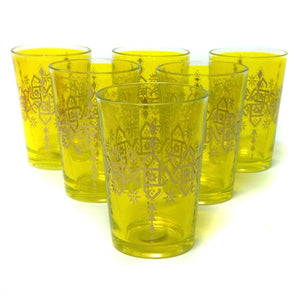 Souad Glass Yellow Set Of 6