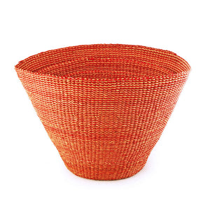 Bolga Bucket Nesting Basket Red