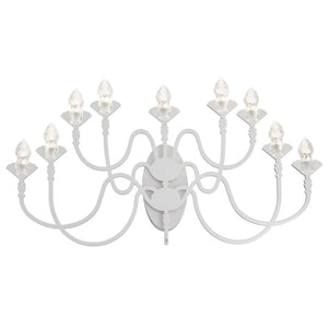 Edge 9 Bulb Wall Sconce White