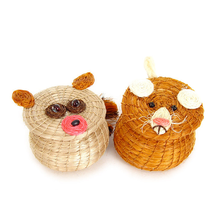 Bush Baby And Mouse Basket Set