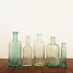 Aqua Glass Bottles III