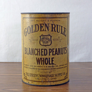 Golden Rule Peanuts Tin