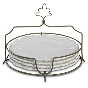 Chateau Dessert Plates With Tray