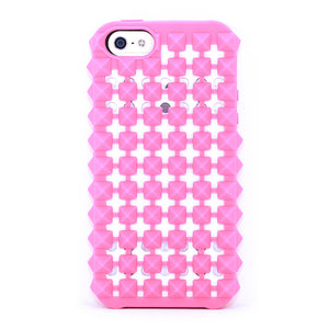 iPhone 5 Studded Jacket Coral