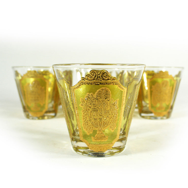Gold Glasses Set Of 7