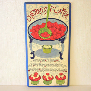 Cherries Flambé Wall Hanging