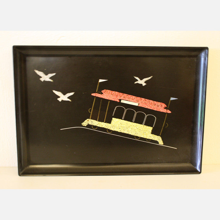 Couroc Trolley Car Serving Tray